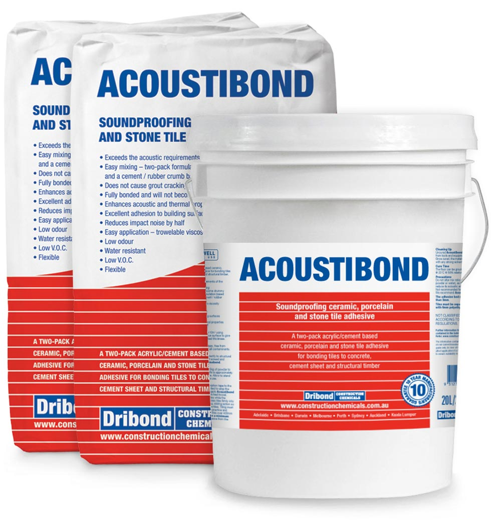 Acoustibond 2x Bags and Bucket