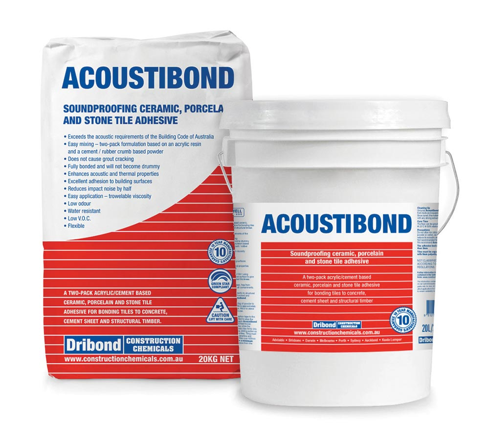 Acoustibond Bag and Bucket